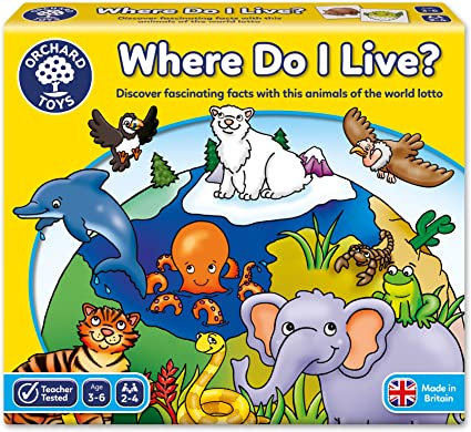 Orchard Toys Where Do I Live Game Amazon Co Uk Toys Games Children will love learning about unusual animals from around the world, whether they live in the desert, under the sea, in the jungle or in the arctic! orchard toys where do i live game