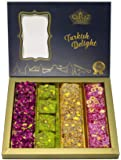 Turkish Delight Luxury Assorted Gourmet Gift Box Fantastic Rose & Pomegranate Flavor Experience With Pistachio (16-22…