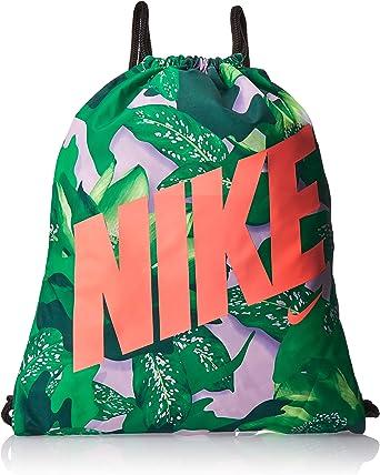 lección Prisionero de guerra Ahuyentar  Amazon.com: NIKE Youth Gymsack - Gfx Bag, Pink Rise/Black/Lava Glow, Misc:  Clothing