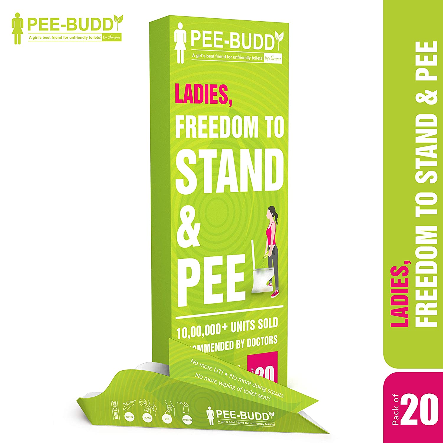 Most girls stand up to pee