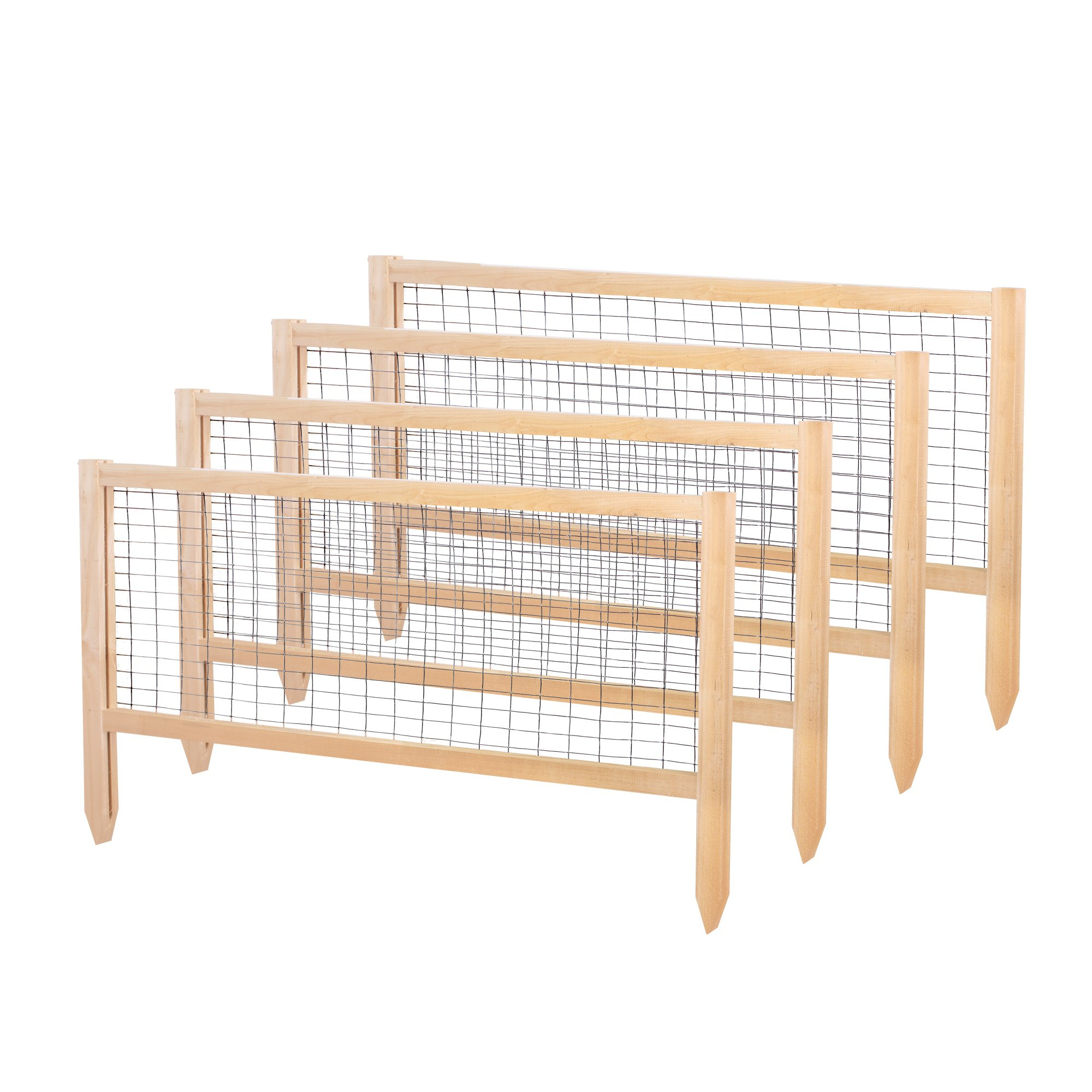 Greenes Fence RCCG4PK CritterGuard Cedar Garden Fence, Pack of 4, 23.5'' by Greenes Fence