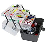Bins & Things Fishing Tackle Box with 3 Fold Out