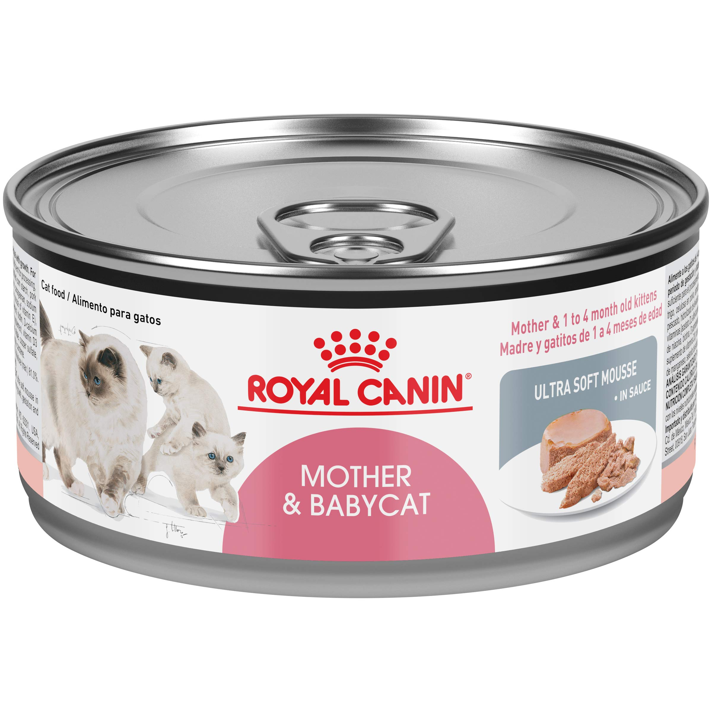 Royal Canin Mother & Babycat Ultra-Soft Mousse in Sauce Wet Cat Food for New Kittens and Nursing or Pregnant Mother Cats, 5.8 Ounce Can by Royal Canin