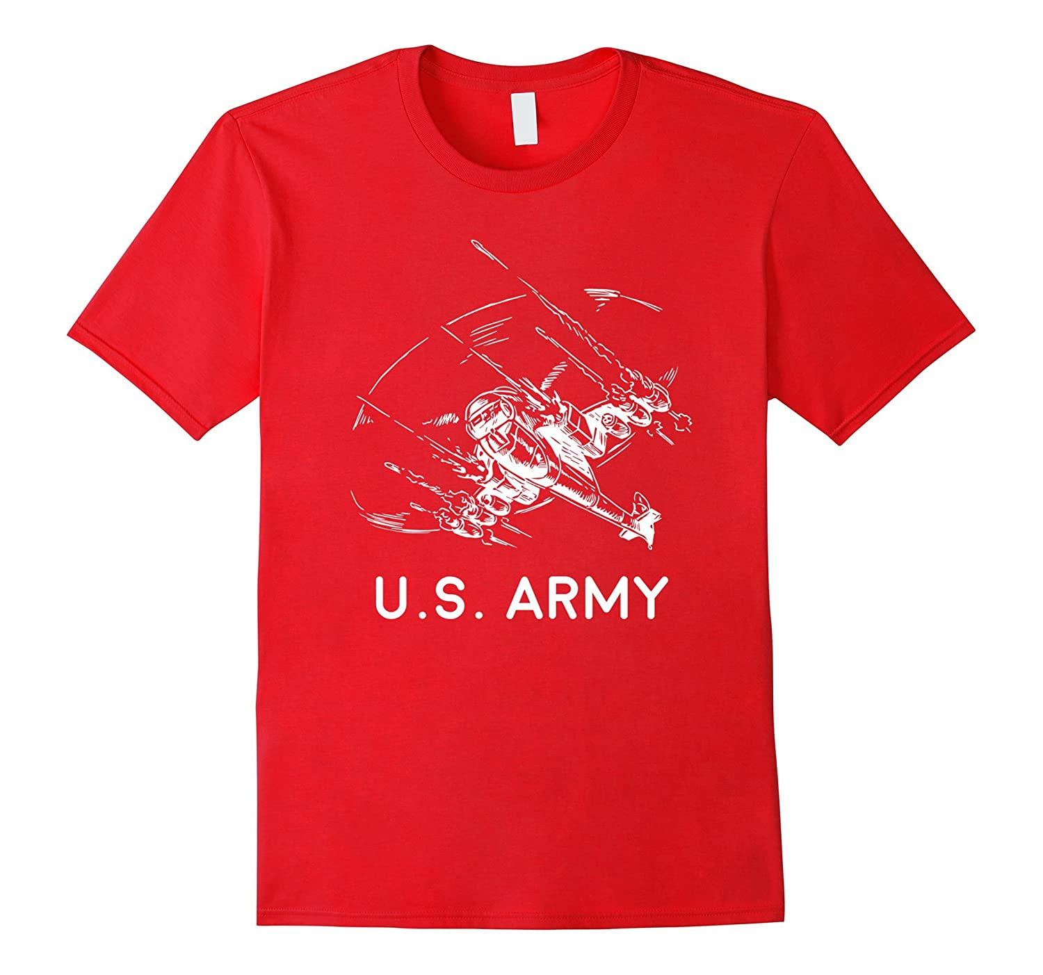 Army Helicopter T-shirt - U.S. Army-Art