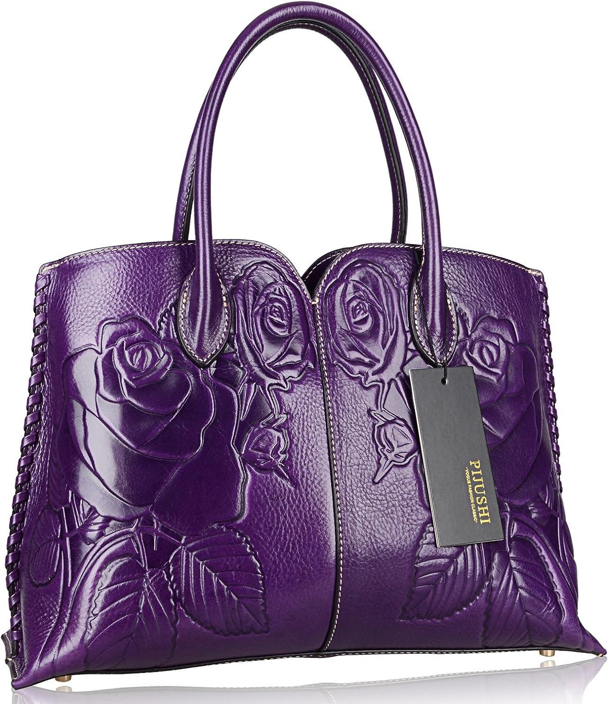 PIJUSHI Designer Floral Purse Women's Handbags Top Handle Satchel Tote Bag