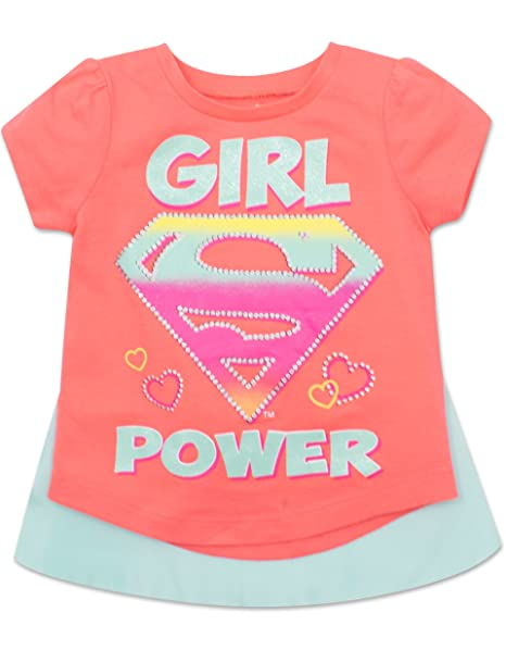 c0f21c08 Warner Bros. Toddler Supergirl T-Shirt with Cape Girl Power - Coral