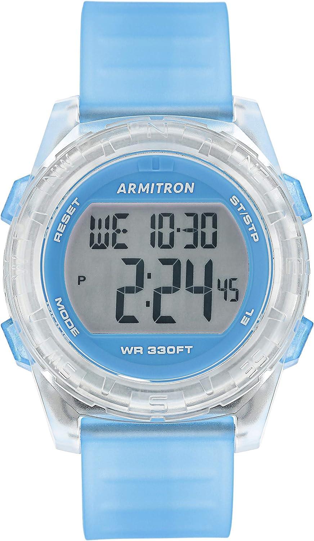 45//7128 Armitron Sport Womens Translucent Resin Strap Watch