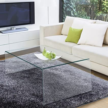 Amazoncom TANGKULA Glass Coffee Table Modern Home Office Furniture - Clear acrylic cocktail table