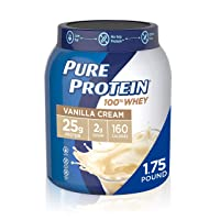 Pure Protein Powder, Whey, High Protein, Low Sugar, Gluten Free, Vanilla Cream,...