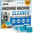 Washing Machine Cleaner Descaler 24 Pack - Deep Cleaning Tablets For HE Front Loader & Top Load Washer, Clean Inside Drum And