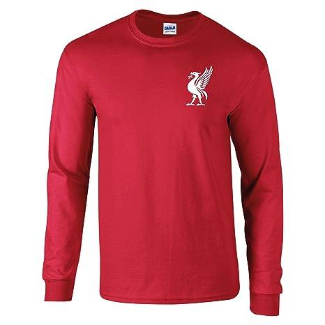 4e23e0e0067 Bags of Nostalgia Liverpool Football Shirt 60 s Style Old Skool Old  Fashioned Retro Style Liver Bird