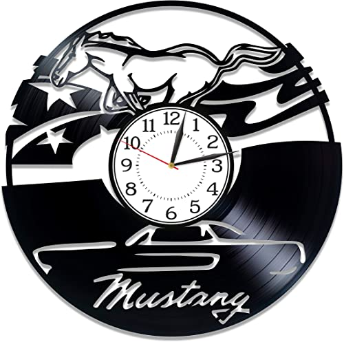 Kovides Birthday Gift Idea Ford Mustang Car Wall Clock 12 Inch