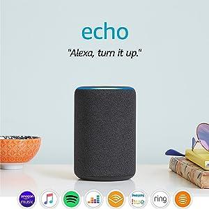 Amazon Echo (3rd generation) | Smart speaker with Alexa, Charcoal Fabric