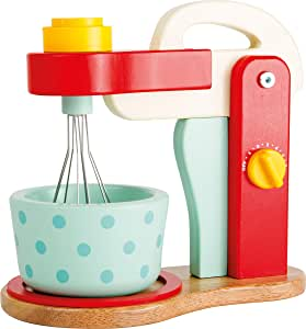 Childrens Wooden Pretend Play Blender With Mixing Bowl For Role Play Kitchens And Shops