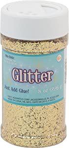 Sulyn Gold Glitter Jar, 8 Ounces, Non-Toxic, Reusable Jar with Easy to Use Shaker Top, Multiple Slot Openings for Easy Dispensing and Mess Reduction, Gold Glitter, SUL51139