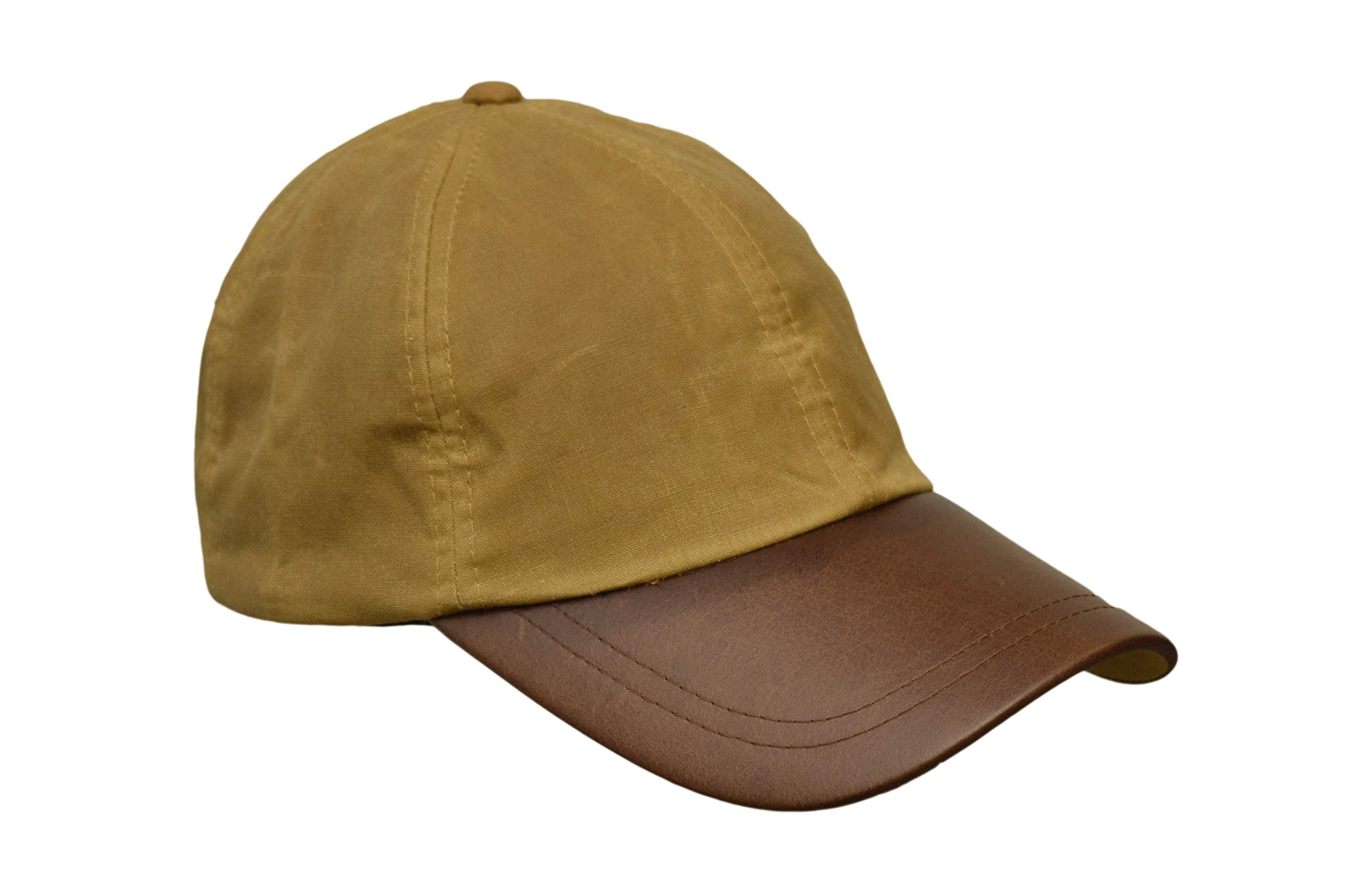 Walker and Hawkes Men's Wax Baseball Cap Waxed Cotton Leather Peak One-Size Beige by Walker and Hawkes