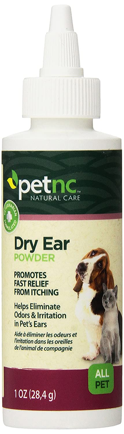 PetNC Natural Care Dry Ear Powder for All Pets, 1-Ounce