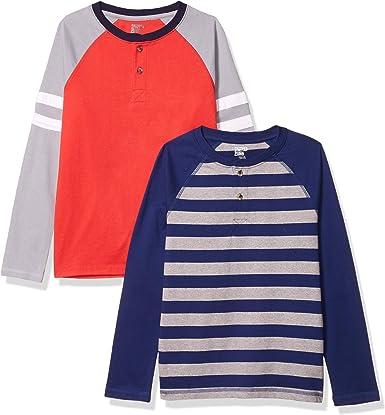 Amazon Brand - Spotted Zebra Boys' Long-Sleeve Henley T-Shirts