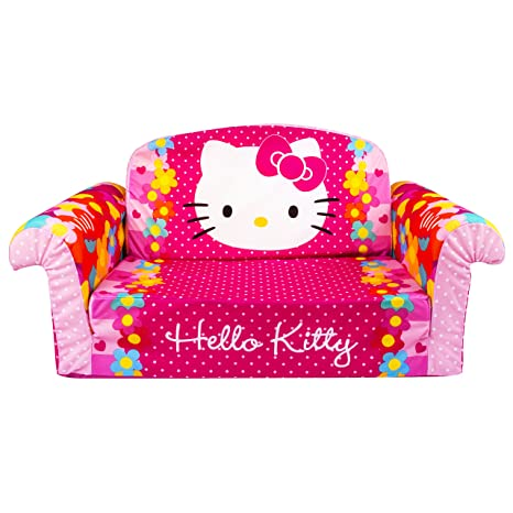 Marshmallow Furniture Childrenu0027s 2 In 1 Flip Open Foam Sofa, Hello Kitty,  By Spin
