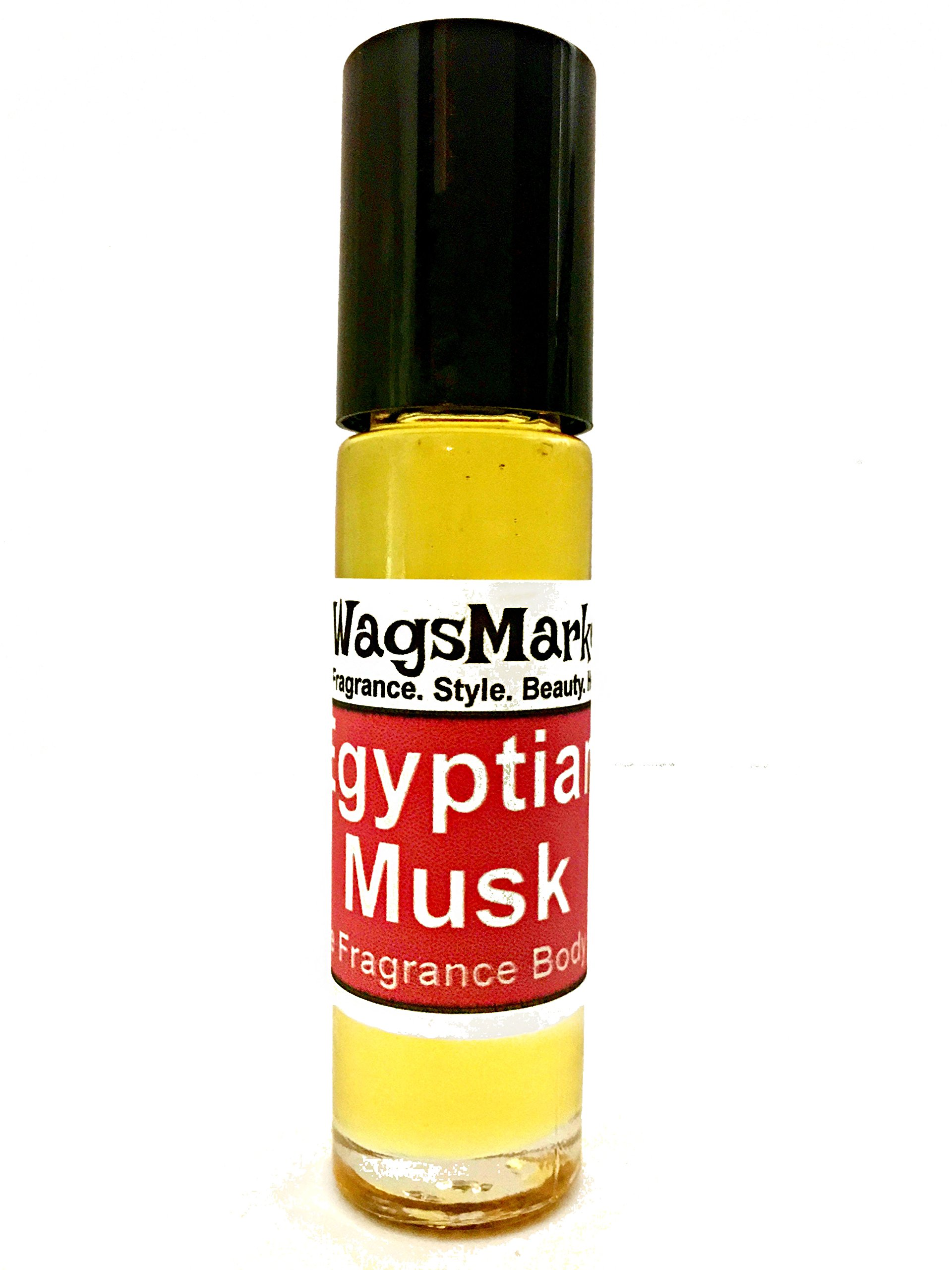 Egyptian Musk Oil, Choose from Roll On to 0.33oz - 4oz Glass Bottle, by WagsMarket™ (0.33oz Roll On)