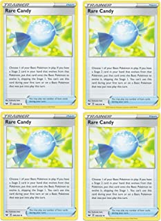 product image for Pokemon Card - Rare Candy - Sword and Shield Base - x4 Card Lot Playset - 180/202 Uncommon