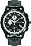 GROVANA 1633.9577 men's quartz Watch with black Dial chronograph Display and black leather Strap 1633.9577