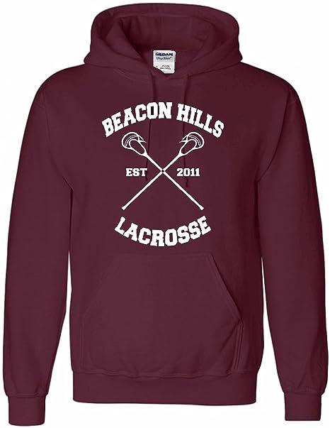 """Sudadera con capucha con mensaje """"Beacon Hills"""" en el frontal y """""""