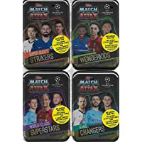 $69 » 2019 2020 Topps 4 Tin Gift Lot of UEFA Champions League Match Attax Card Game MEGA Collector Tins with 240 Cards including 4 Limited…