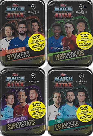 Mega Tin 2020 Card List.Amazon Com Match Attax 2019 2020 Topps Uefa Champions