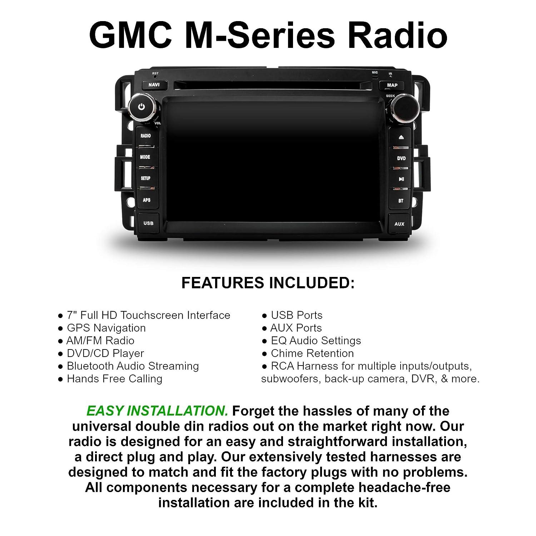 In Dash GPS Navigation Bluetooth DVD AM/FM Multimedia Radio (Fits: GMC  Sierra 07-13, GMC Acadia 07-13, GMC Yukon 2007-2013, Chevy Silverado 07-12,
