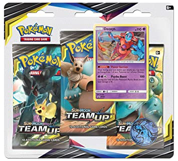 Pokemon TCG: Sun & Moon 9 Team Up Blister 3-Pack: Amazon.es ...