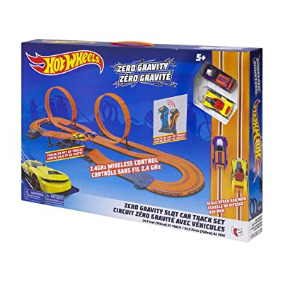 Hot Wheels 1:43 2.4G Zero-Gravity Slot Track Set (760cm/ 24.9ft) (AC): Toys & Games