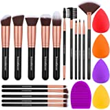 InnoGear Makeup Brushes Set, Professional Cosmetic Brush Set with 16 Makeup Brushes and Sponges and Brush Cleaner for Foundat