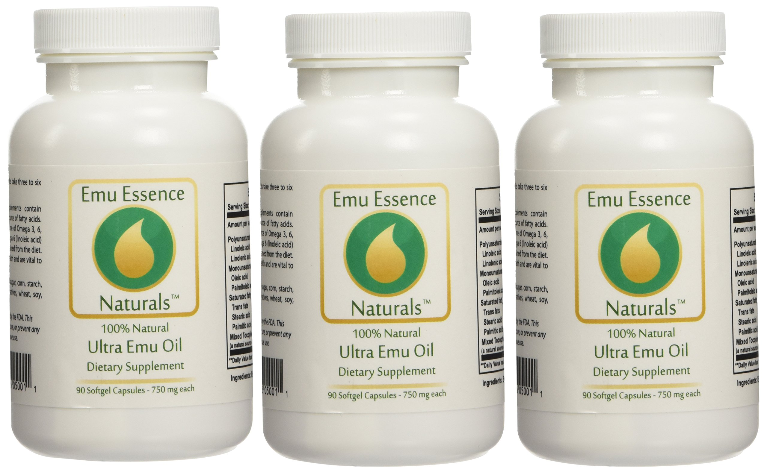 Emu Essence Ultra Emu Oil Dietary Supplements - 3 Pack