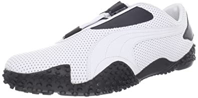 46e53c4b97d4dc PUMA Mostro perf Leather-u White Black 14 US Mens 15.5 D US
