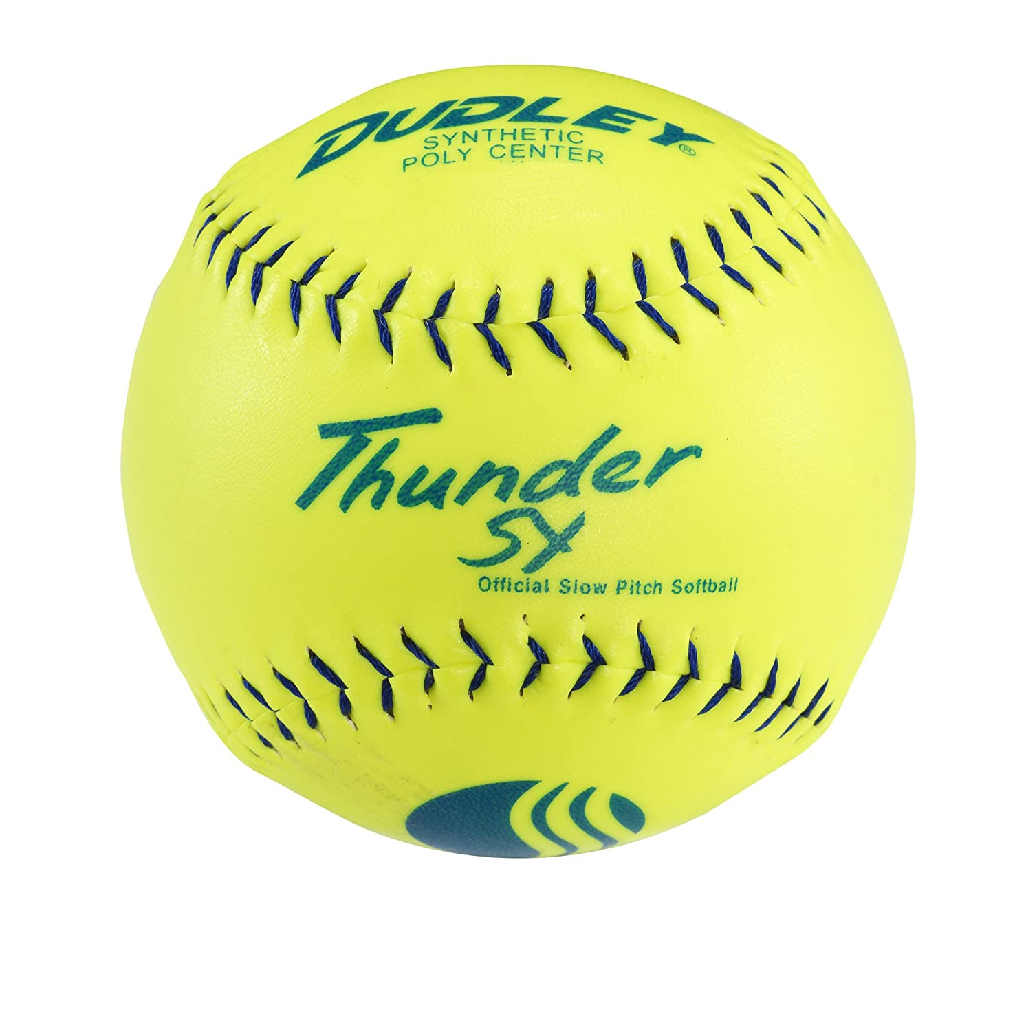 amazon com dudley blue stitch usssa thunder sy synthetic yellow