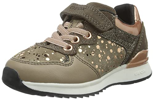 Geox J Maisie Girl E, Zapatillas para Niñas, Beige (DK BEIGEC5005), 35 EU