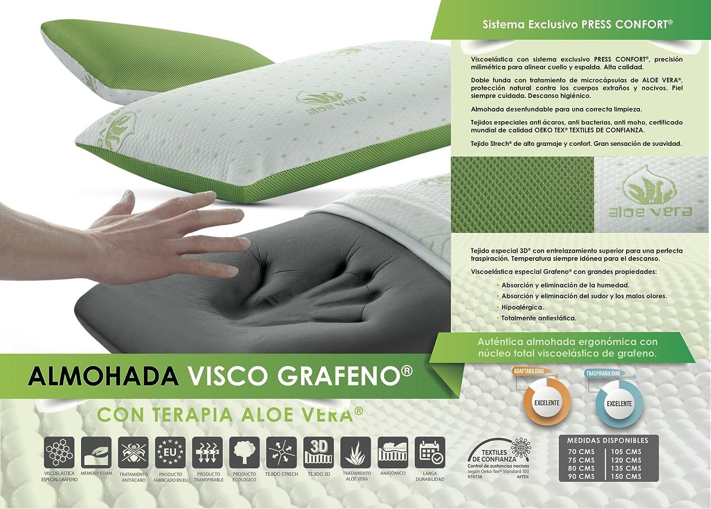 COLCHÓN VISCO GRAFENO CERTIFICADO CON ALMOHADA DE REGALO ALOE VERA VISCO GRAFENO 140 X 190: Amazon.es: Hogar
