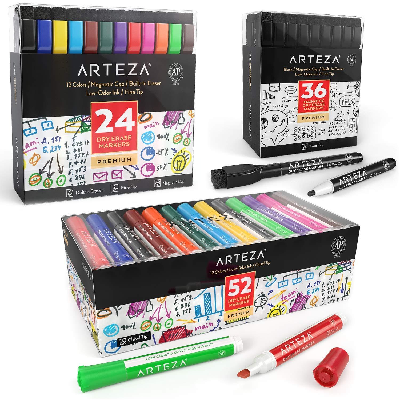 ARTEZA Dry Erase Markers Fanatic Bundle, Set of 3