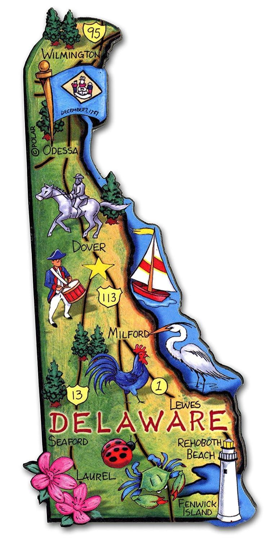 ARTWOOD MAGNET - DELAWARE STATE MAP