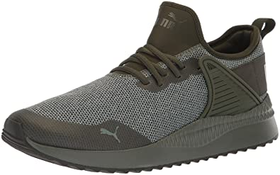 PUMA Men s Pacer Next Cage Knit Sneaker Forest Night-Laurel Wreath 34e20e1a8