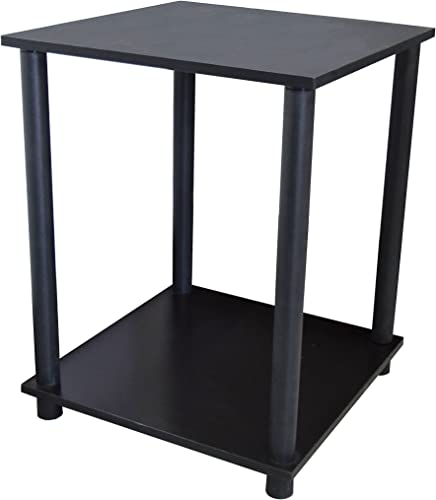REALONE Turn-N-Tube End Table,Sofa Table,Night Stand,Petite,Dark Gray