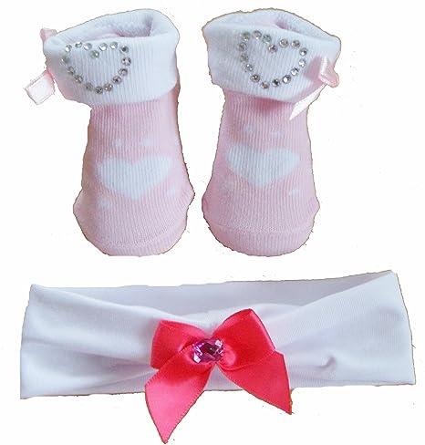 Bañador para bebé de color rosa palo 2 piezas Cein calcetines de juego de peluches y