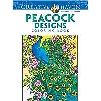 Dover Creative Haven Pavo Real Diseños Publicaciones Libro para Colorear