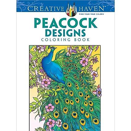Dover DOV 9963 Creative Haven Peacock Designs Publications Coloring Book