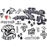 Tatuaggio Temporaneo Harley Quinn Per Donna Ragazza Carnevale Halloween Cosplay Suicide Squad Film Tattoo Idea Regalo