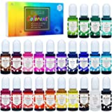 24 Color Epoxy UV Resin Pigment - Crystal Transparent Epoxy Resin Dye for UV Resin Coloring, DIY Resin Art Jewelry…