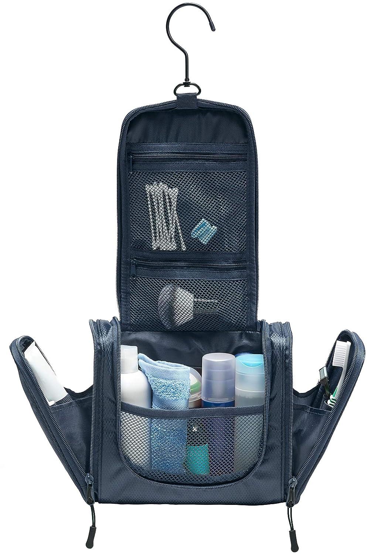 TRABONA Kulturbeutel zum Aufhängen für Herren - Waschtasche für Männer Premium-Qualität - Reise Kulturtasche mit verbessertem Konzept [2018]