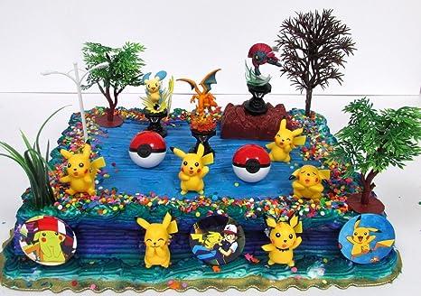 Amazoncom POKEMON GO Birthday Cake Topper Set Featuring Pokemon