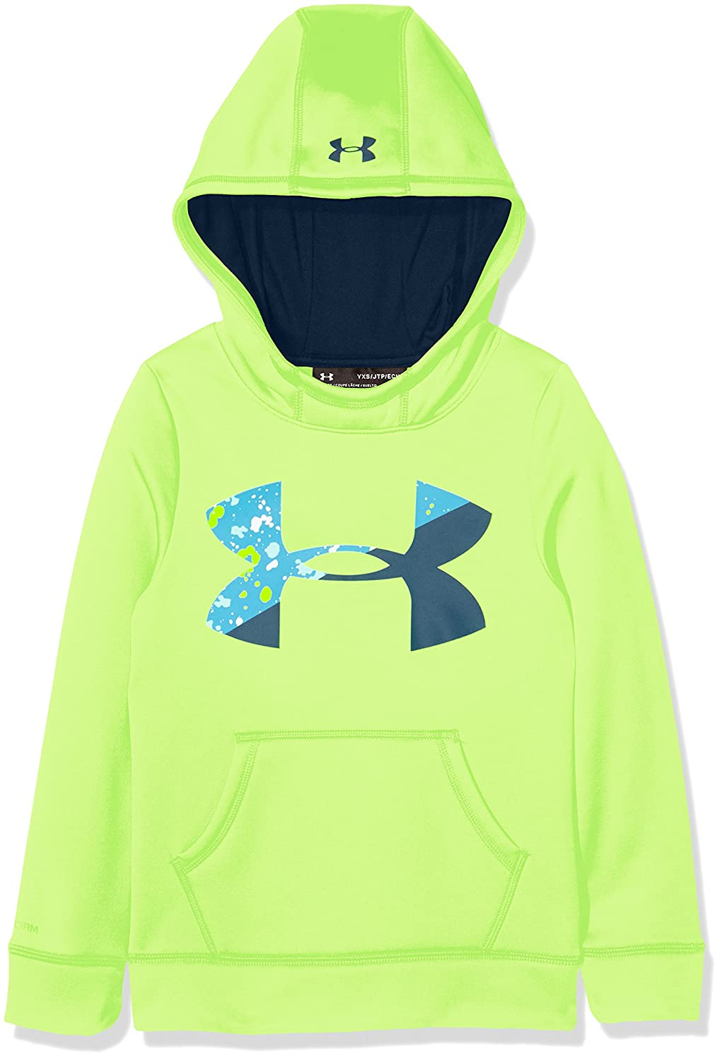 Under Armour Fleece Big Logo Hoody, Felpa con Cappuccio Bambina